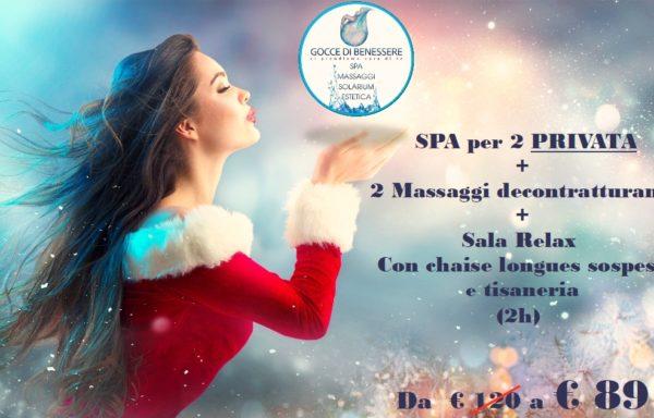 Spa per 2 PRIVATA + 2 massaggi decontratturanti  € 89 a coppia
